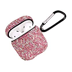 Pink & Silver Luxurious Rhinestone AirPods Case