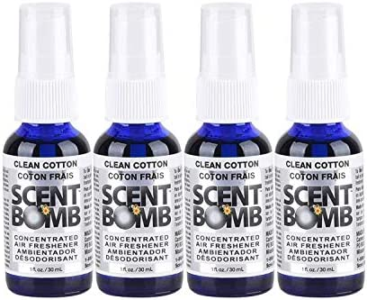 Scent Bomb Super Strong 100% Concentrated Air Freshener - 4 PACK (Clean Cotton)