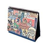 7321 Design Vintage Galore Desk Weekly Planner Diary Calendar Scheduler (Alice Label)