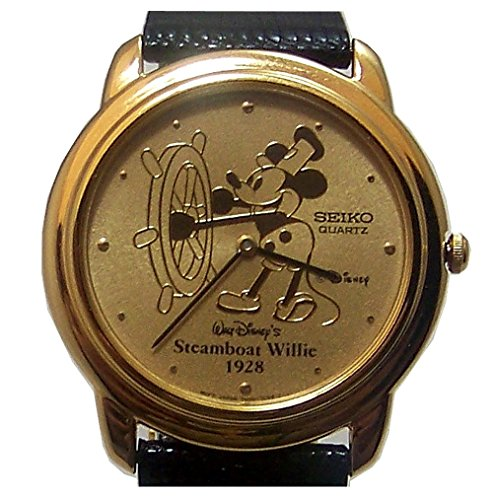 Steamboat Willie Seiko Watch Mickey Mouse Disney Gold Mens Lmt. Ed.