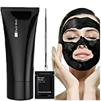 Face Apeel Facial Masks, Blackhead Remover Facial Cures Black Peel Off Mask Deep Cleansing Pore Acne Peel Tear Type Mask Blackhead Killer Mud Mask (60g) + 1PC Nose Mask + 1PC Acne Needle