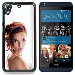 "Qstar Arte & diseño plástico duro Fundas Cover Cubre Hard Case Cover para HTC Desire 626 (Scarlet Actriz Sexy"")"