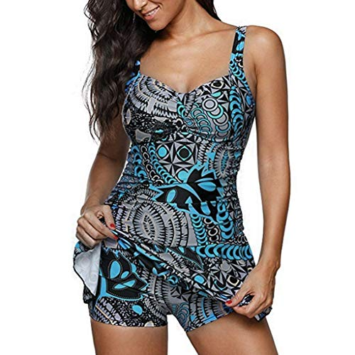 Aoesila Vintage Sailor Pin Up Swimsuit Retro One Piece Skirtini Cover Up Swimdress() -