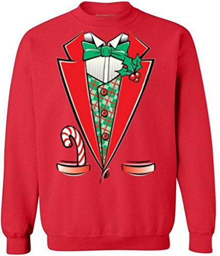 Awkwardstyles Ugly Christmas Sweaters L Christmas Tuxedo for sale  Delivered anywhere in USA