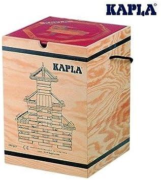 KAPLA Juego DE CONSTRUCCION Infantil con Piezas de Madera Caja 280 un Color Natural+ Libro Arte Rojo: Amazon.es: Juguetes y juegos