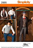 Simplicity Buckaroo Bobbins Pattern 2895 Men's Gambler Costume Sizes Chest 46-48-50-52