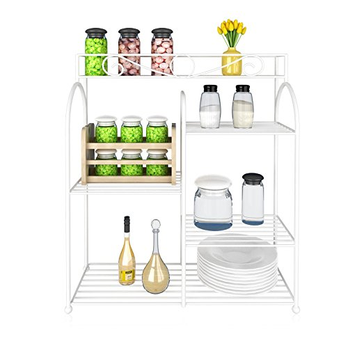 Furinno FNBQ-22133 Yijin Multi-Grid Shelving Unit for Seasoning Bottles, Small by Furinno
