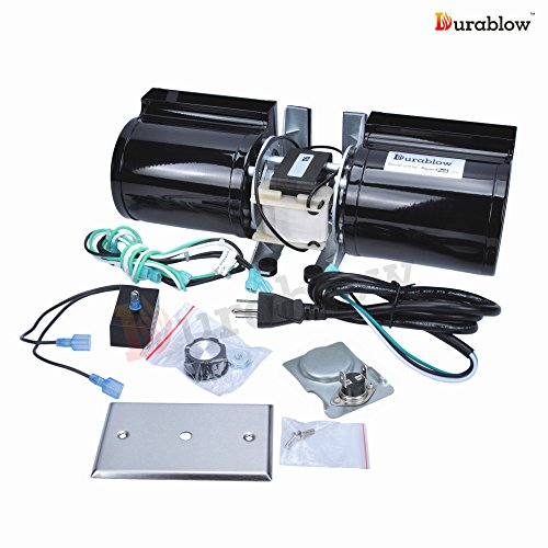Durablow GFK-160 Fireplace Stove Blower Complete Kit for Lennox, Superior, Heat N Glo, Hearth and Home, Quadra Fire, Regency, Royal, Jakel, Nordica, Rotom (Variable Speed Blower Kit)
