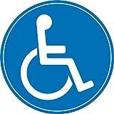 1 Rollstuhl-Aufkleber innenklebend I Ø 10 cm I kfz_076 I Sticker Behinderten-Symbol Behinderung schwerbehindert Behinderten-Transport Rollstuhl-Fahrer