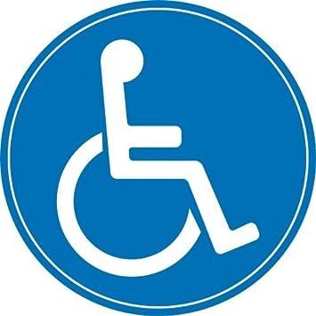 Easydruck24de 1 Rollstuhl Aufkleber Innenklebend I ø 10 Cm I Kfz398 I Sticker Behinderten Symbol Behinderung Schwerbehindert Behinderten Transport