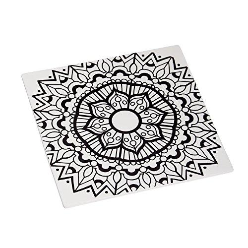 Cypress Home Mandala Coloring Book Inspired Ceramic Trivet