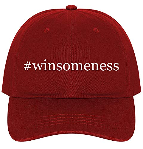 #Winsomeness - A Nice Comfortable Adjustable Hashtag Dad Hat Cap, Red