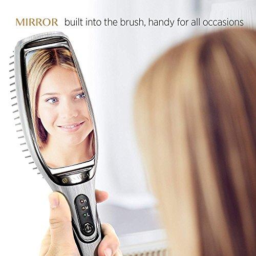 AsaVea Professional Hair Straightening Brush with Mirror