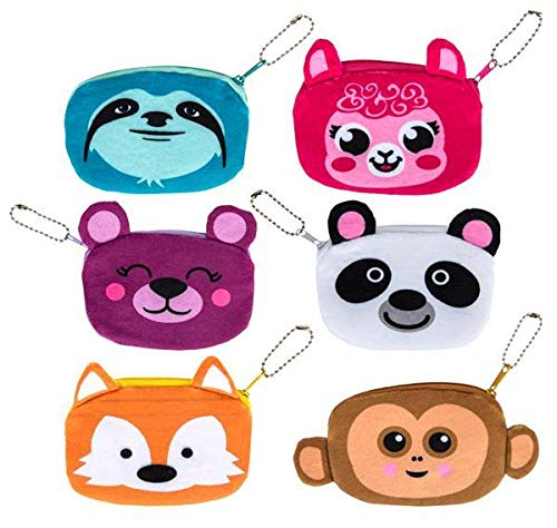 DollarItemDirect 3.5'' Plush Animals Coin Purse, Case of 144