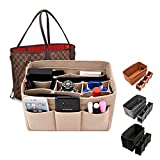Kumako Handbag Organizer Bag In Bag For Felt Insert Purse Organizer Insert Bag Felt Fabric Purse Organizer for Handbag Tote Bag(12Pockets,3color,Medium)