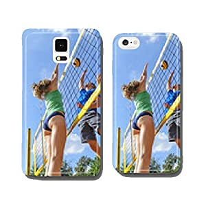 intense game of beach volleyball cell phone cover case Samsung S6