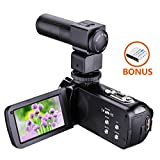 Camera Camcorders,Onshowy Night Vision Handy Cam HD 1080P 24MP 16X Digital Zoom Video Camcorder with 3.0
