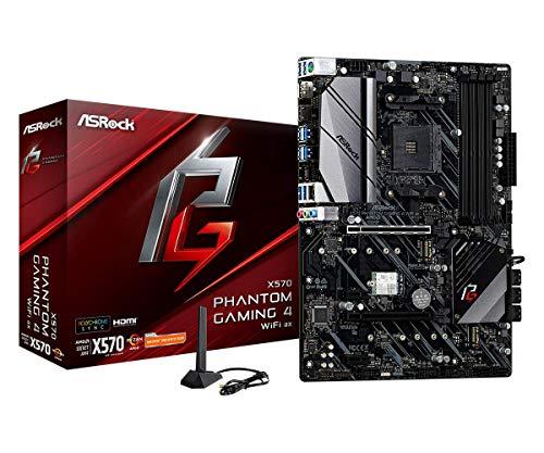 ASRock X570 Phantom Gaming 4 WiFi AX AM4 AMD X570 SATA 6Gb/s ATX AMD Motherboard