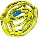 Braun 30041RS Câble de traction Gaine polyester Jaune Puissance 3000 kg / 4 m (Import Allemagne)