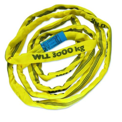 Braun 30031RS Recovery Strap Loop 3000 kg Load 3 m with 1.5 m Usable Length Continuous with Polyester Core Yellow Braun GmbH