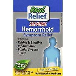 Real Relief Homeolab Severe Hemorrhoid Tablets, 90 Count