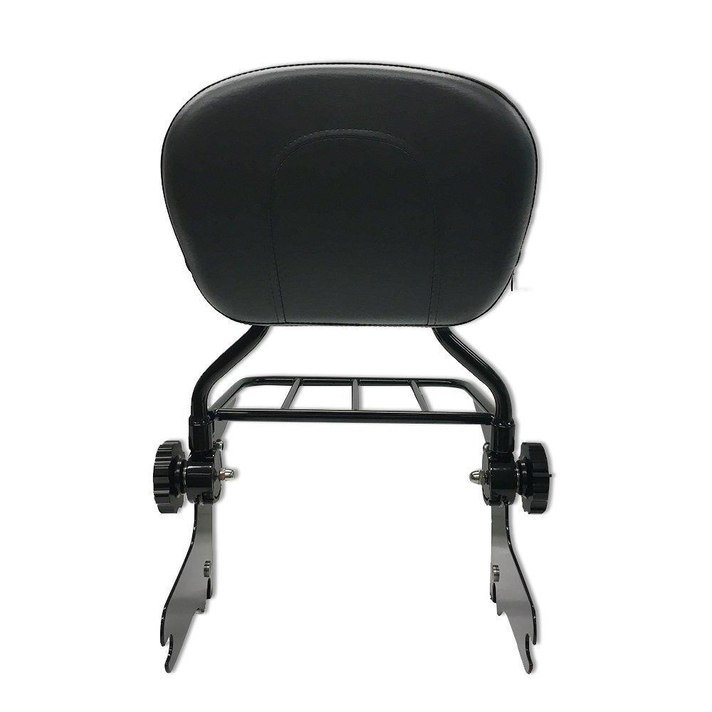 VBROS NEW Adjustable Black Backrest Sissy Bar W//Luggage Rack Harley Touring Electra Glide Road Glide Road King Street Glide FLHT FLHX FLHR FLTR 2009 2010 2011 2012 2013 2014 2015 2016 2017 2018 2019