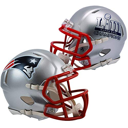 Riddell New England Patriots Super Bowl 53 LIII Champions Revolution Speed Mini Football - Revolution Mini Helmet