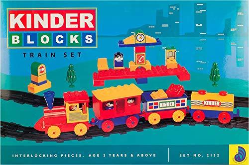 Peacock Kinder Senior Train Set Building Block Game