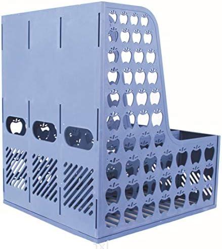 zhouweiwei Abnehmbarer Hohlkörper aus blauem Kunststoff, belüftet 3 Regalmagazin Publikation Ablagefach Aufbewahrungsbox Teiler Aktenhalter