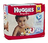 Huggies Diapers Snug & Dry Disney Size 3 (16 - 28 lb) 32 CT (Pack of 16)