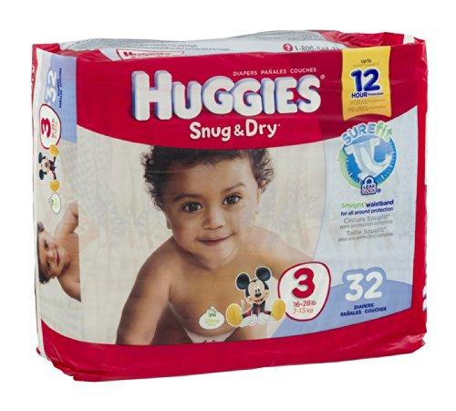Huggies Diapers Snug & Dry Disney Size 3 (16 - 28 lb) 32 CT (Pack of 8) by HUGGIES