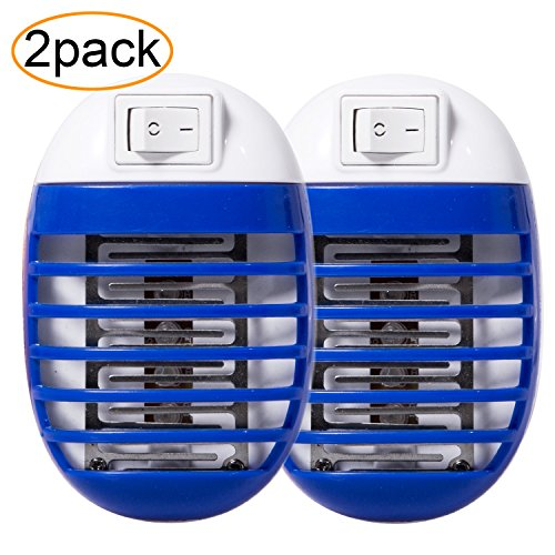 Gogogu 2 Pack Electronic Insect Killer Mosquito Trap Bug Zapper Mosquito Killer Lamp Eliminates Flying Pests Gnat Trap with Night Light