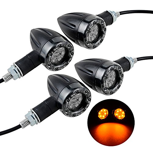 4pcs 12V 12 LED Universal Motorcycle Turn Signal Light - 8