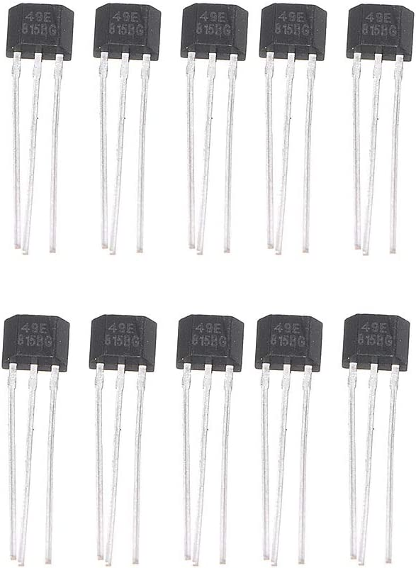 Gwxevce 10PCS 49E Elemento Hall OH49E regulador de Voltaje Sensor de Efecto Hall Interruptor Lineal
