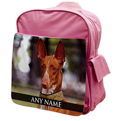 personalisierbar Pharao Hound Dog Animal Pink Rucksack Rucksack 229