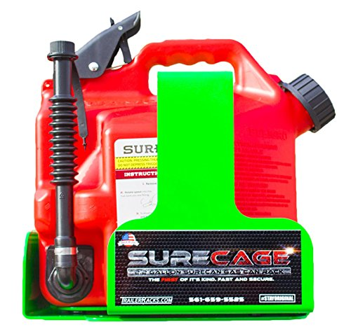 Green Touch Industries The First 2 Gallon Lockable Gas Can Rack for SureCan