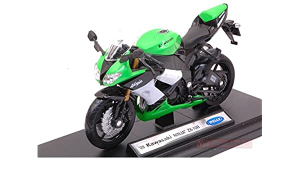 Welly WE38511G Kawasaki Ninja ZX-10R 1:18 MODELLINO Die Cast ...