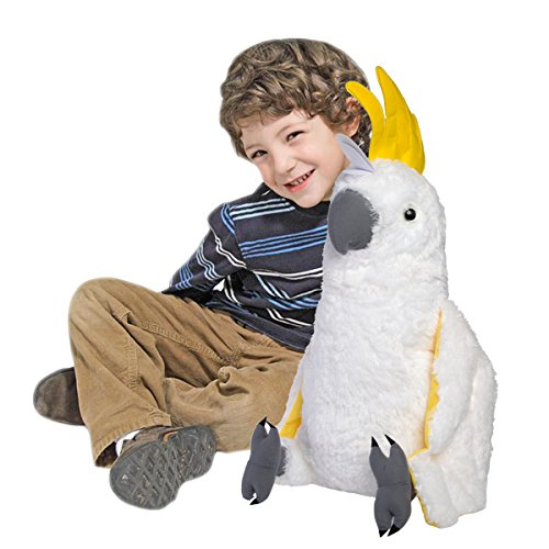 Wild Republic Cuddlekins Jumbo Sulpher Crested Cockatoo Plush (Felt Plush Stuffed Animal)