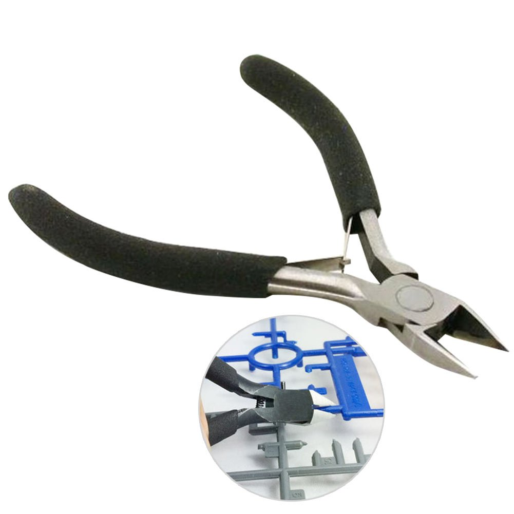 Espeedy Pinzas cortadoras de alambr, 11CM cortador diagonal de acero mandí bula recta de corte lateral Snips Flush alicates Nipper Cable elé ctrico de alambre Nipper herramientas de mano