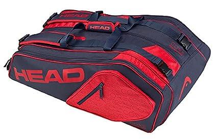 Head Core 9R Supercombo Raqueta de Tenis Bolsa, Color Azul Oscuro y Rojo, tamaño