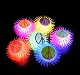 5'' LIGHT-UP PEACE SIGN PUFFER, Case of 144