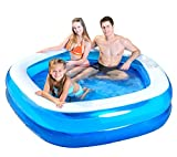 Kiddie Pool – Giant Inflatable Family and Kids Pentagon Pool – Almost 7 Feet Wide (79″ X 77″ X 18.5″)