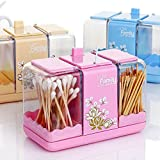 Shopo's Toothpick Double Slider Cotton Swab Package Holder Storage Box