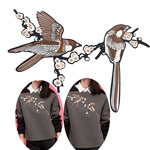 - Creative Homemade Handmade Art Noble Bird Embroidered Iron Patches Stitching Clothes Creative Supplies Crafts Trim
