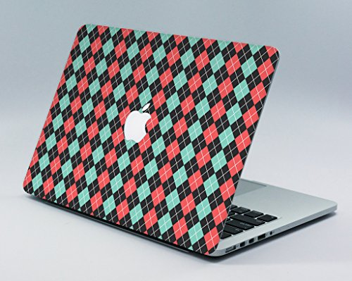 "Teal Coral Argyle MacBook Pro 15"" Retina Skin/Decal"