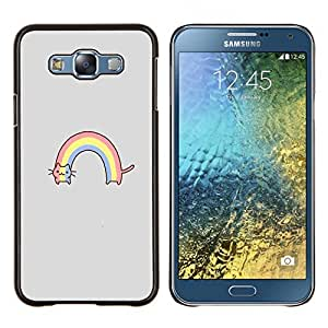 Stuss Case / Funda Carcasa protectora - Rainbow Gray divertido de la historieta - Samsung Galaxy E7 E700