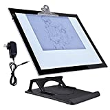 GHP 360° Rotating Pad Adjustable Height Tablet Size 19'' 36-LED Backlit Drawing Board