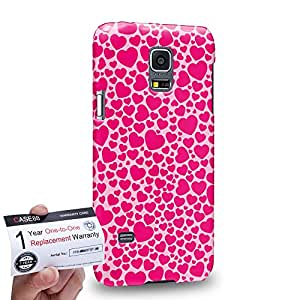 Case88 [Samsung Galaxy S5 Mini] 3D impresa Carcasa/Funda dura para & Tarjeta de garantía - Art Design Rose Sweet Heart Typography