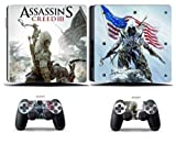 Cosines PS4 Slim Stickers Vinyl Decal Protective Console Skins Cover for Sony Playstation 4 Slim and 2 Controllers Assassin Theif Hero