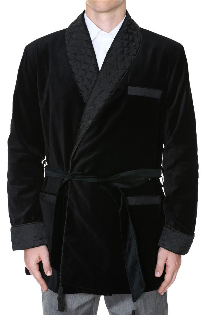 Men's Smoking Jacket Constance Black X-Large by Duke & Digham